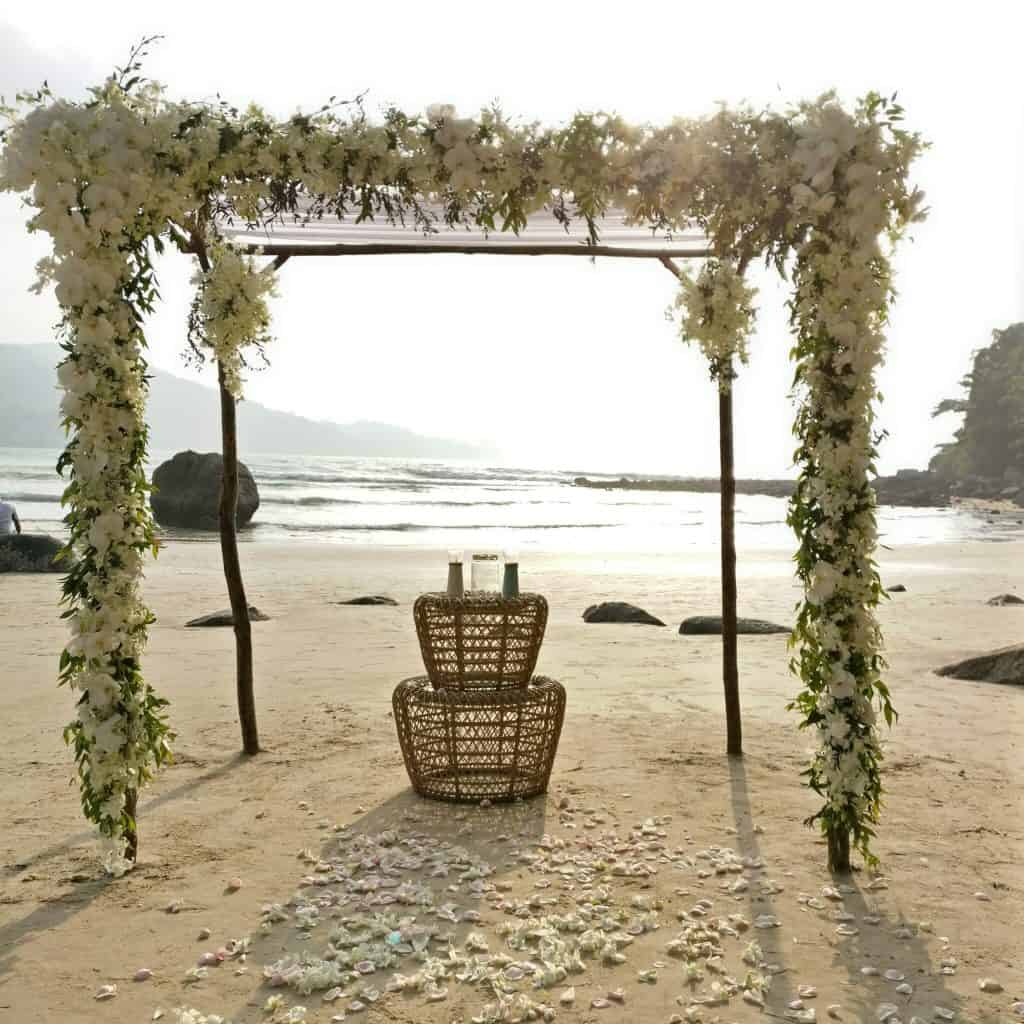 独特的普吉岛婚礼策划者海滩竹凉亭(10)