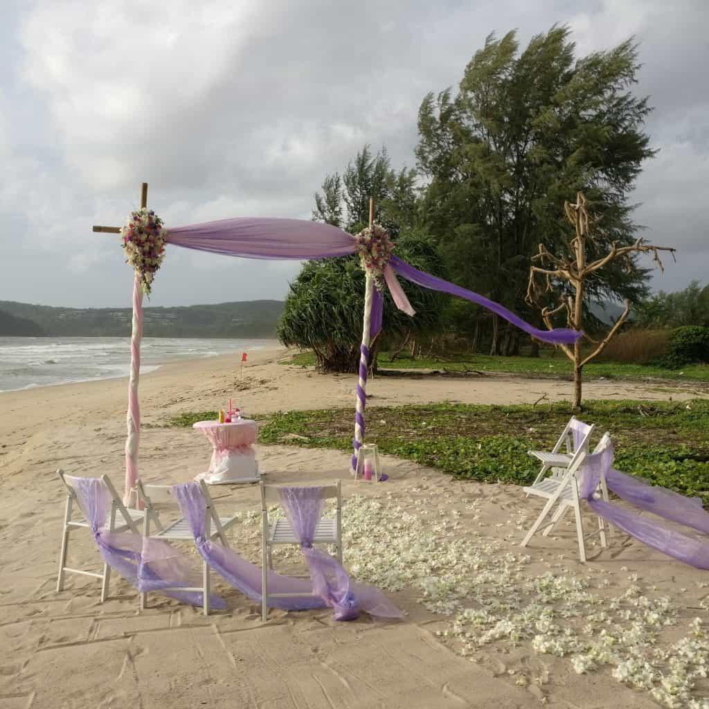 Beach Gazebo Wedding Flowers Phuket Thailand