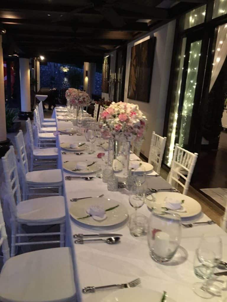 Villa Wedding Reception Flowers Phuket Thailand