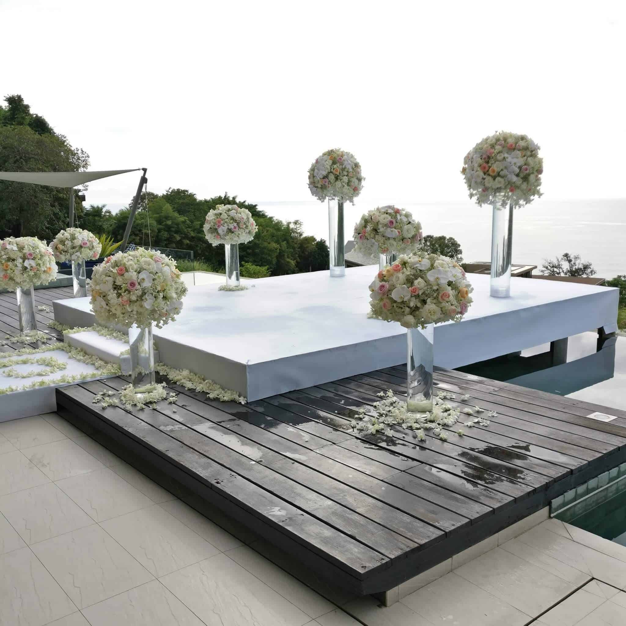 Wedding Flowers Phuket Setups