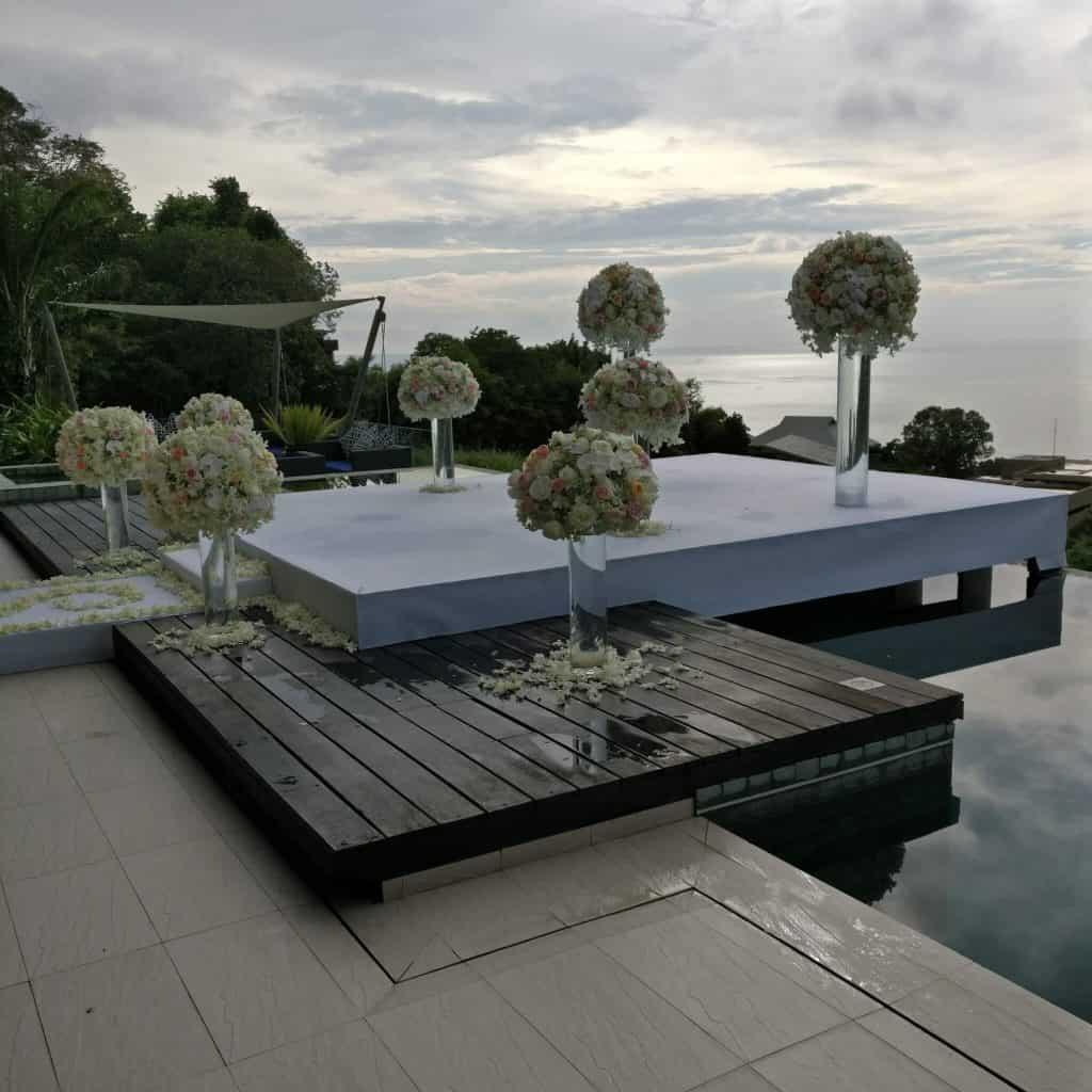 别墅婚礼开花普吉岛泰国