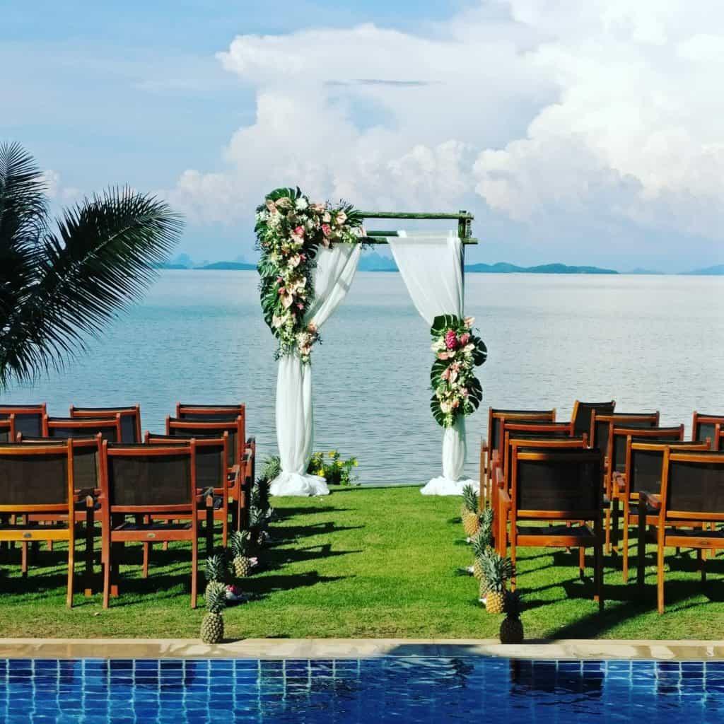 热带婚礼鲜花