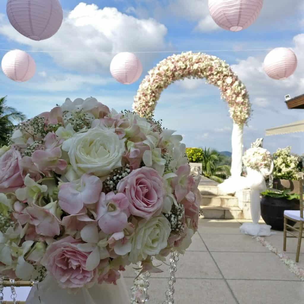 别墅婚礼鲜花