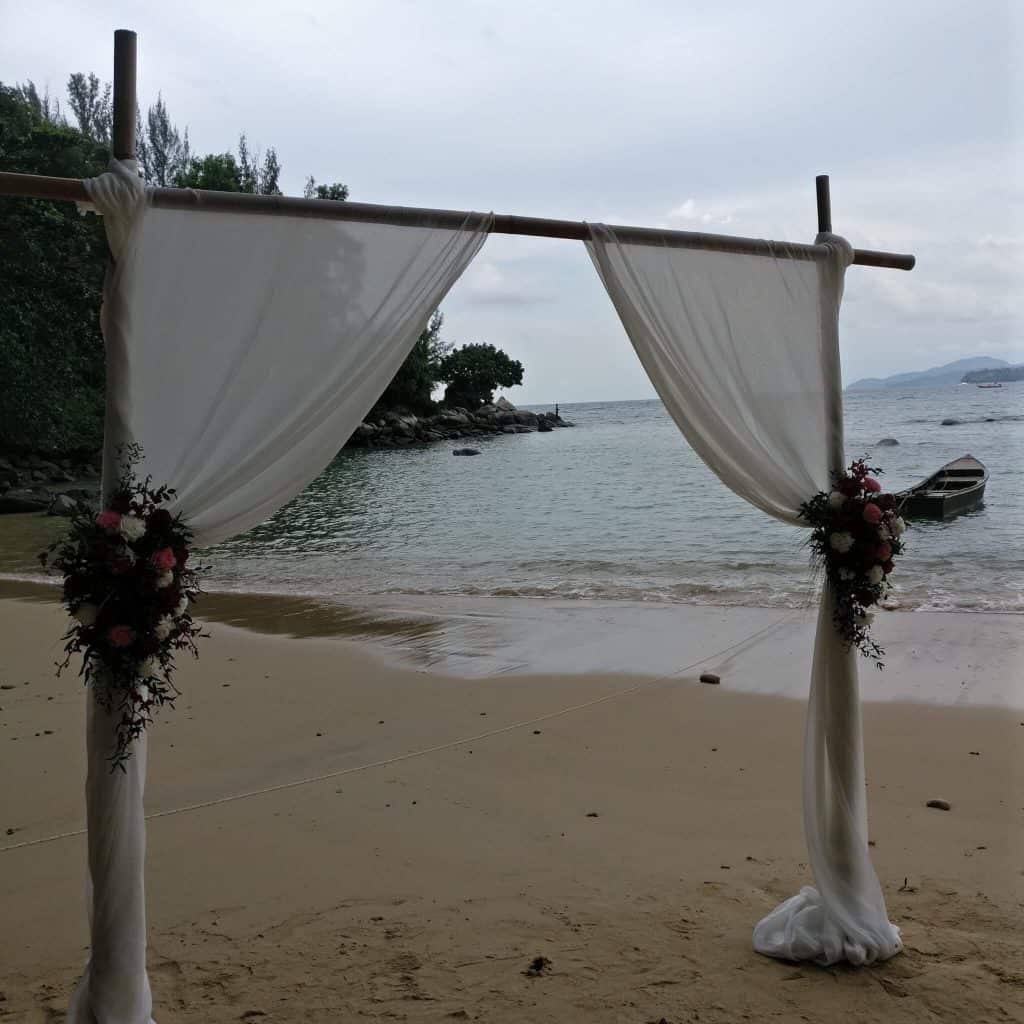 Simple Beach Wedding Flowers Phuket