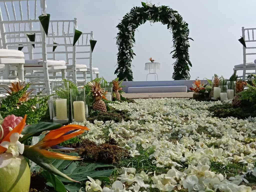 婚礼鲜花设置244