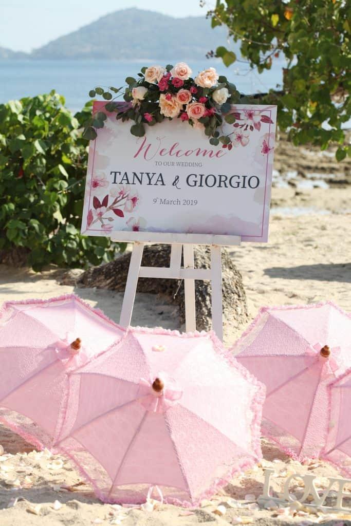 Tanya & Giorgio Beach Wedding 9th March 2019, Thavorn Beach Village 3